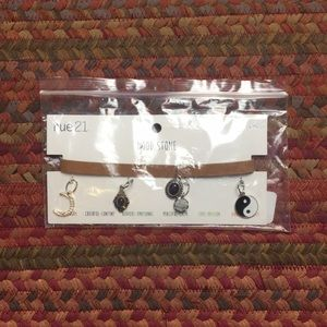 NWT MOOD STONE CHARM CHOKER NECKLACE